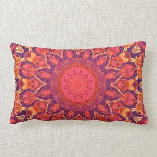 Sunburst, Abstract Mandala Star Circle Dance Throw Pillow