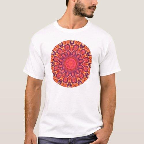 Sunburst, Abstract Mandala Star Circle Dance T-Shirt