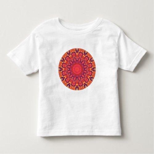 Sunburst, Abstract Mandala Star Circle Dance Toddler T-shirt