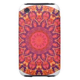 Sunburst, Abstract Mandala Star Circle Dance Tough iPhone 3 Case