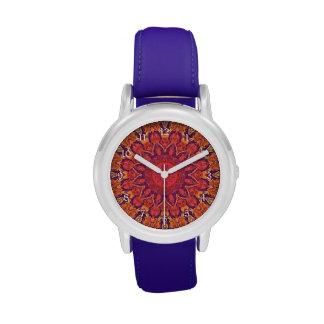 Sunburst, Abstract Mandala Star Circle Dance Wristwatches