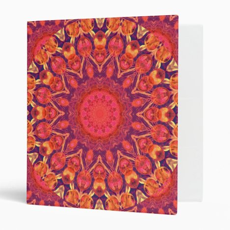 Sunburst, Abstract Star Circle Dance Binder