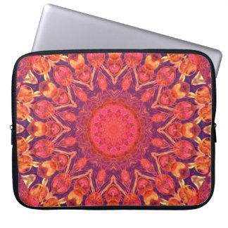 Sunburst, Abstract Star Circle Dance Computer Sleeve