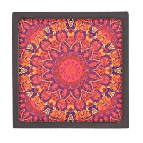 Sunburst, Abstract Star Circle Dance Jewelry Box