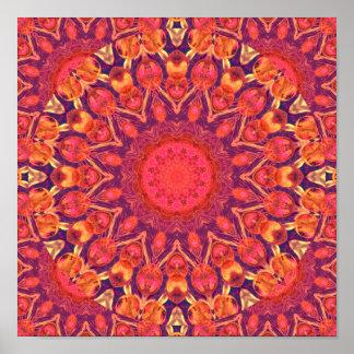 Sunburst, Abstract Star Circle Dance Poster