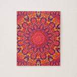 Sunburst, Abstract Star Circle Dance Puzzles