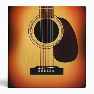 Sunburst Acoustic Guitar Binder