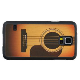Sunburst Acoustic Guitar Carved® Maple Galaxy S5 Slim Case