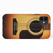 Sunburst Acoustic Guitar iPhone 11 Case