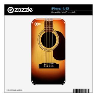 Sunburst Acoustic Guitar iPhone 4 Skins