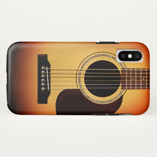 Sunburst Acoustic Guitar iPhone X Case