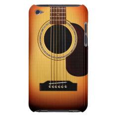 Sunburst Acoustic Guitar Ipod Case-mate Case at Zazzle