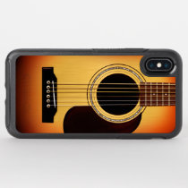 Sunburst Acoustic Guitar OtterBox Symmetry iPhone XS Max Case
