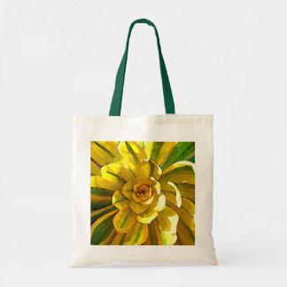 Sunburst Aeonium Succulent Square by Amy Vangsgard Canvas Bag