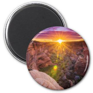 Sunburst at Canyon de Chelly, AZ Magnet