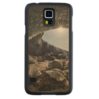 Sunburst at ice cave entrance carved maple galaxy s5 case