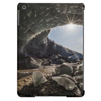 Sunburst at ice cave entrance iPad air covers