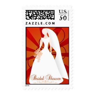 Sunburst Bridal Shower Stamp
