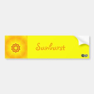 Sunburst Bumper Stickers
