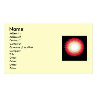 sunburst business card templates