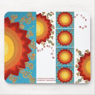 Sunburst Celestial-Vibrant Uplifting Global Art Mouse Pad