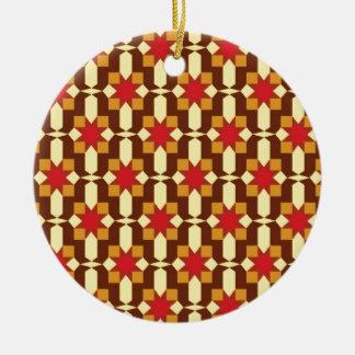 Sunburst Ceramic Ornament