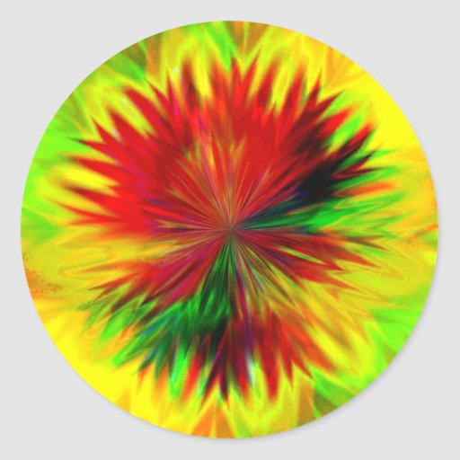 Sunburst Dahlia Sticker