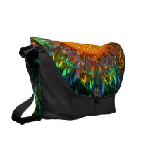 daisy, cobalt, sunburst, rainbow, Rickshaw messenger bag with custom graphic design