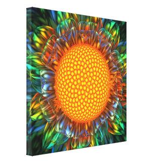 """Sunburst Daisy"" Stretched Canvas Print"