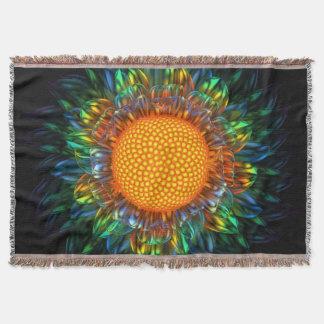 Sunburst Daisy Throw Blanket