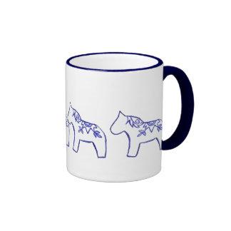 Sunburst Dala Horses Mug