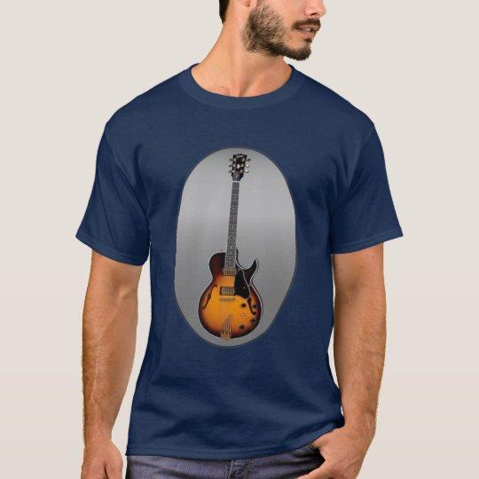 Sunburst Electric Guitar Oval Shirt