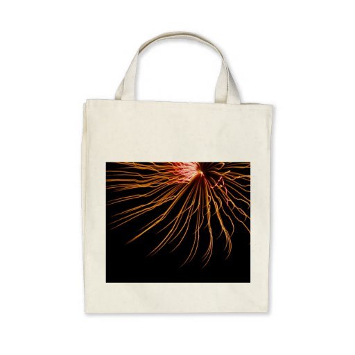 Sunburst Fireworks Abstract Photo grocery bag