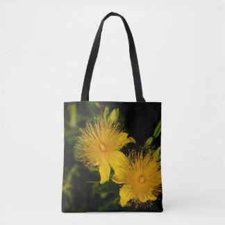 Sunburst Flowers Tote Bag