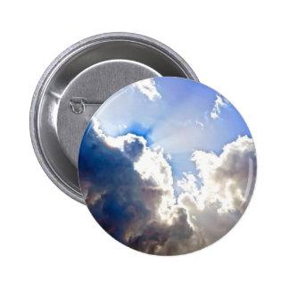 Sunburst from Dark Clouds Pinback Button