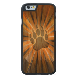 Sunburst Gay Bear Pride Flag Bear Paw Carved® Cherry iPhone 6 Case