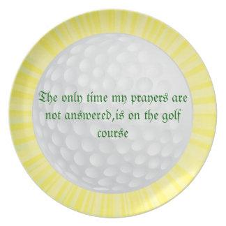 Sunburst golf plate