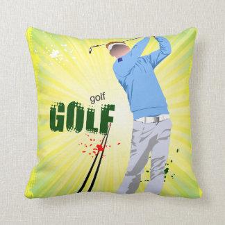 Sunburst golfer pillow,with sunburst back.