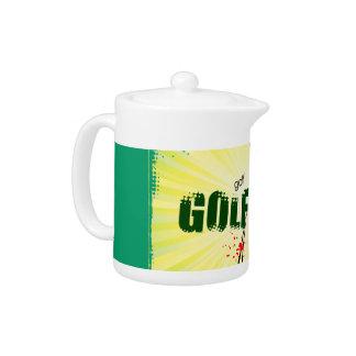 Sunburst golfer Teapot 11 oz.
