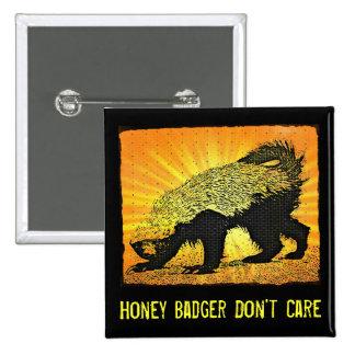 Sunburst Honey Badger Pinback Buttons