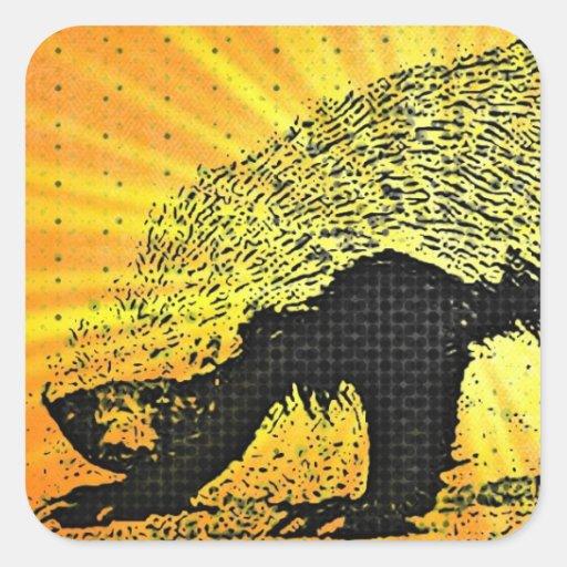 Sunburst Honey Badger Sticker