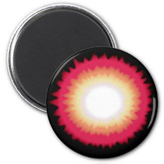 sunburst 2 inch round magnet