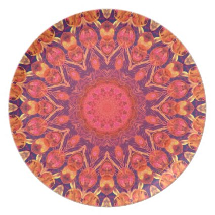 Sunburst Mandala - Abstract Circle Dance Party Plates