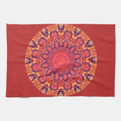 Sunburst Mandala - Abstract Circle Dance Towel