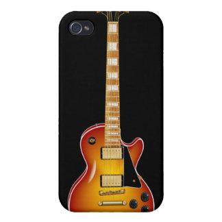 Sunburst Metal Electric Guitar iPhone 4 Covers