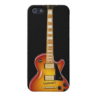Sunburst Metal Electric Guitar iPhone 5 Case