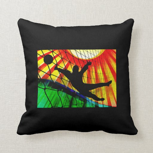 Sunburst & Net Soccer Goalie Pillows