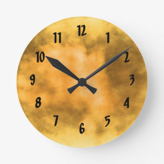 Sunburst of energy round clock