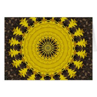 sunburst or sunflowe pattern card