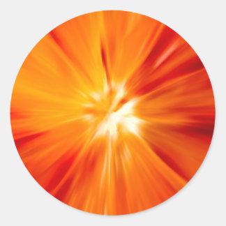 Sunburst original Red and orange Classic Round Sticker
